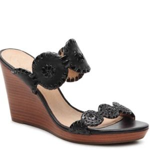 Jack Rogers Lucia Wedge in Black Size 6.5